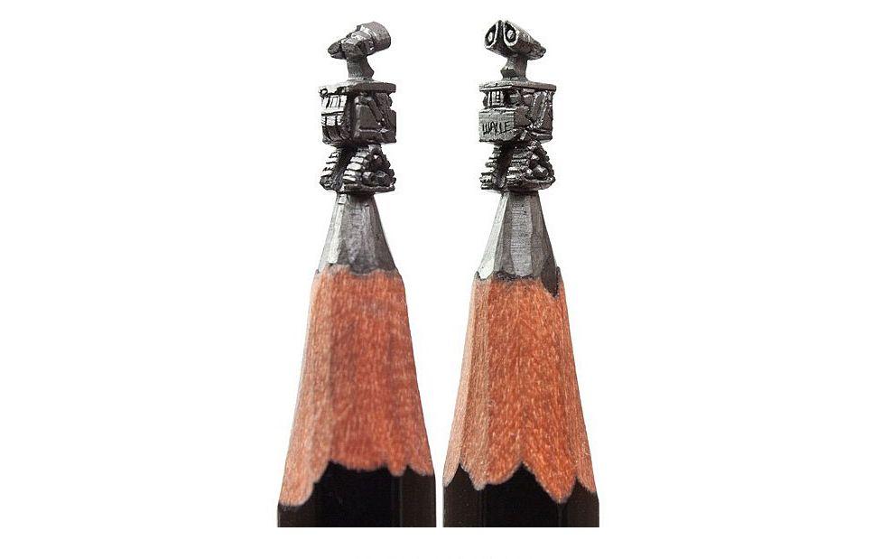 Miniature pencil carvings dansity dan s city